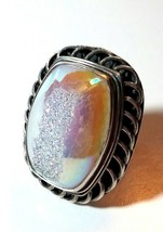 STERLING SILVER ARTISAN STUDIO DRUZY LARGE SIGNED RING - $85.00
