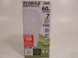 Ecobulb Light Bulb Soft White 15W 60 Watt Equvalent CFL Inside Enery Saving - €8,05 EUR