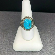 Vintage Navajo Sterling Silver Turquoise Ring Size 9.25 - $1.093,74 MXN
