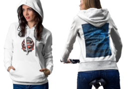God Bless Drummer Womens White Classic Hoodie - $30.99+