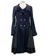 High Everyday Couture by Claire Campbell Navy Frill Frock Coat $2K - $1,295.00