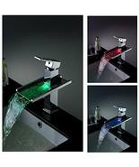 Cascada Single Handle Chrome Waterfall LED Bathroom Sink Faucet, Chrome ... - $247.45