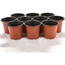 """100 Pcs 4"""" Plant Pots Garden Nursery Plastic Flower Pot Containers Small... - $18.41"""