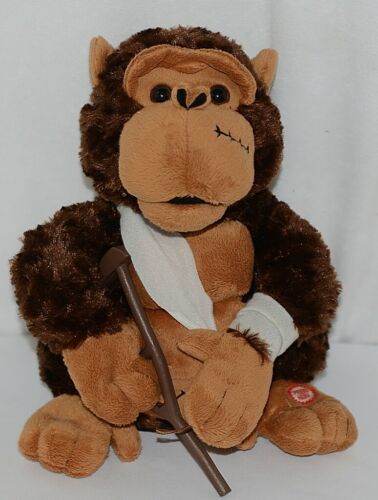 Mills Brand Brown Animated Monkey With Crutch Singing Love Hurts