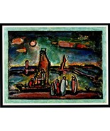 GEORGES ROUAULT 1942 Gravure Print. Powerful Rare Art Engraving of 'Le C... - $189.00