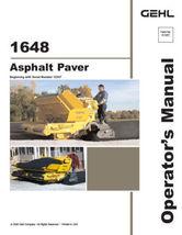 New GEHL 1648 Asphalt Paver Operators Owners Manual 913257 2006 Paperbac... - $29.90