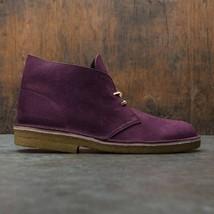 Clarks Originals Desert Boots Men's Purple Grape Leather Nubuck 26129941 - $130.00