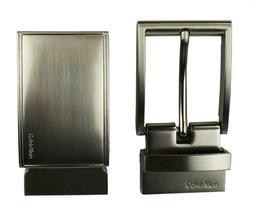 Calvin Klein Ck Men's Leather Reversible Buckle Belt 3 Piece Set Box Brown 74360 image 5