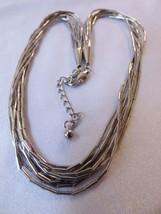 """Multi Strand Silver plate Rain Necklace 18"""" L - $25.34"""