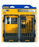 Irwin 314015 15 Piece Drill Bit Set - Black Oxide - $9.90