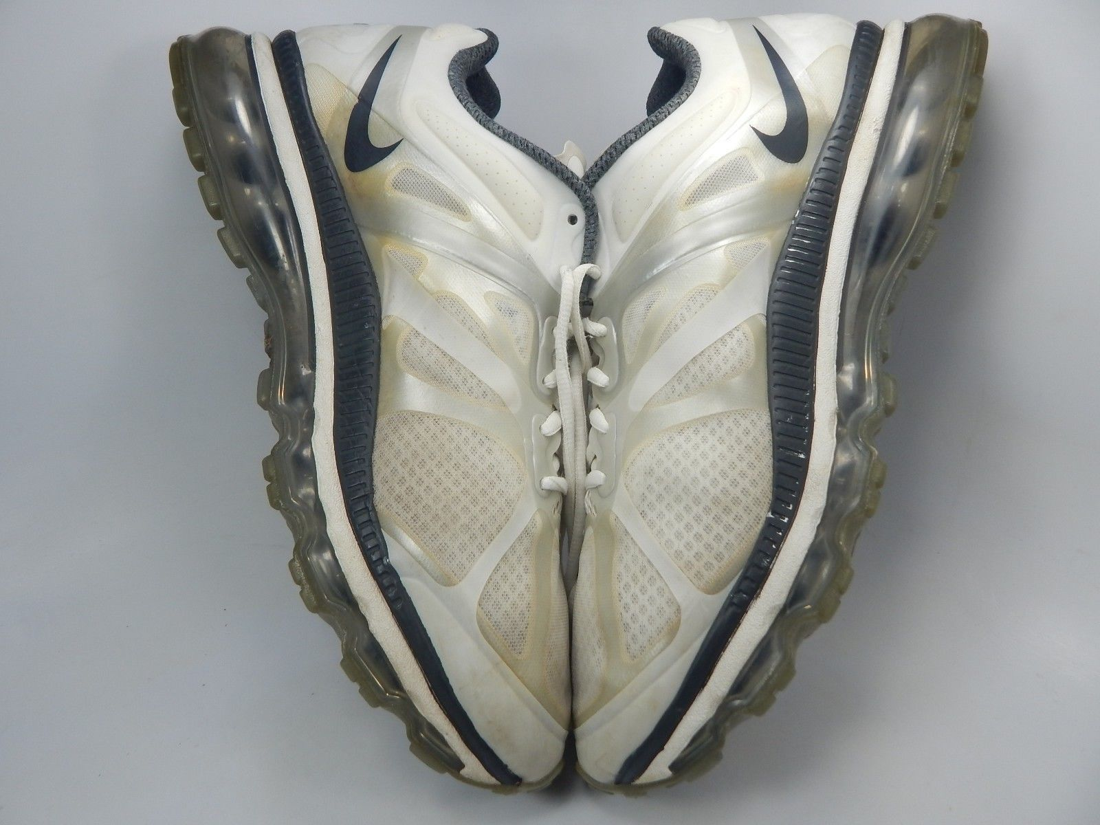 Nike Air Max+ 2012 Running Shoes Men's Size US 12.5 M (D) EU 47 White 487982-100