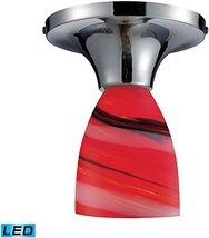 Elk Lighting Polished Chrome/Candy Glass Celina 1 Light LED Semi Flush 1... - $124.00