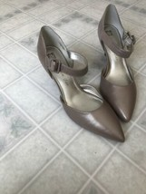 Anne Klein Tan Snake Skin I Flex  Heels Pumps pointed Toe Patent Look Sz 11 - $55.81