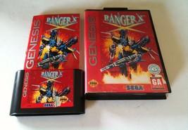 RANGER X jeu sega genesis JEU avec boite et laminé Instructions rare n26 - $50.04