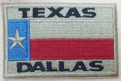 Dallas Texas Embroidered Patch Size 3 x 2. Shipped from USA
