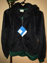 NWT Women's Columbia Double Plush Full-Zip Hoodie Jacket Sz S Abyss/Emerald - $47.51