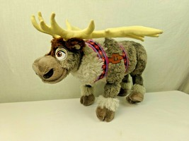 "Disney Store Frozen Sven Reindeer 16"" Plush Stuffed Animal Poseable - $23.74"