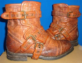 UGG Australia Women's Elisabeta Tobacco Brown Weave Leather Boots Size US 7, NEW - $130.51