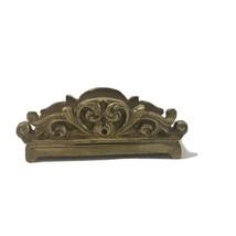 Vintage Brass Business Card Keeper Letter Rack Mobile Phone Holder Desk ... - $30.23