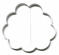 Puffy Cloud Or Peony Carnation Flower Outline Cookie Cutter USA PR3119 - £1.54 GBP