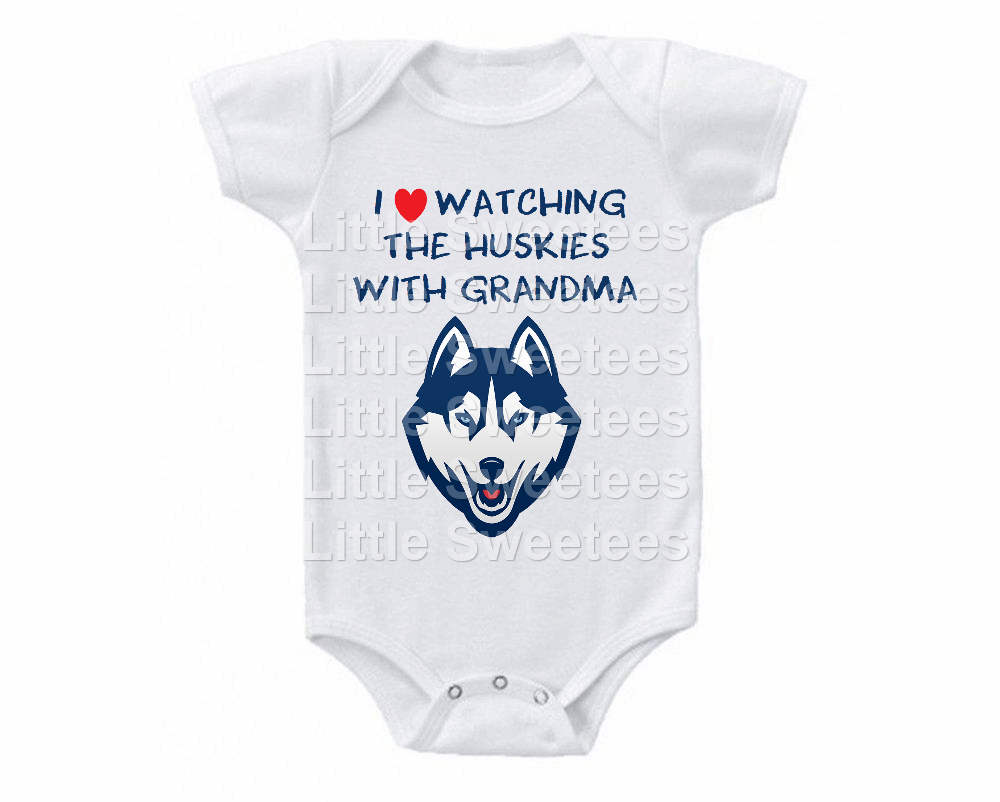 Primary image for UCONN Huskies Onesie Love Watching With Grandma Shirt