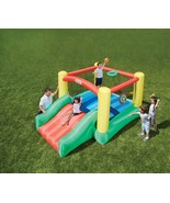 Little Tikes Bounce House with Slide for kids Dunk N Toss Bouncer -balls... - $242.63