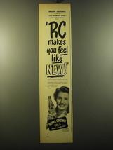 1950 RC Royal Crown Cola Advertisement - Brenda Marshall - $14.99