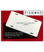 Blank Black 12X6 Glossy License Plate Aluminum Metal Auto Tag Car Truck ... - $7.20