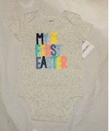 NEW Carters Baby First Easter One Piece Sizes NB thru 6M Peeps Bunny Uni... - $6.99