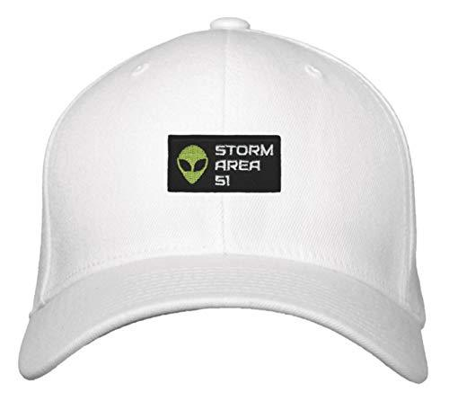 Storm Area 51 Hat - Adjustable White Cap UFO Aliens