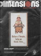 Dimensions Cross Stitch Kit #3560 Dieter's Prayer - NIP - $11.88