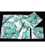 3 C-HOME MONSTERA Green Leaves Decorative Velour Bath Hand Towel Washclo... - $42.99