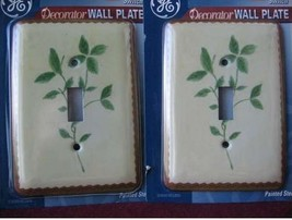 GE light switch cover   PAINTED STEEL   decor Floral Lot of 2  NIP` - $5.69