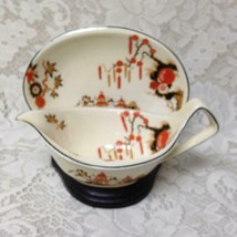 Vintage, Rare, Wedgwood, England,Variant,Gaudy Blue Willow 2pc Gravy-Sau... - $75.95