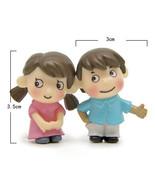 Miniature Girl Boy Pair Lover Mini Figurines Craft Micro Landscaping Dec... - $5.20