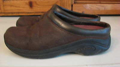 SHOES Merrell Jungle Moc Dark Brown Suede Leather Woman's 7