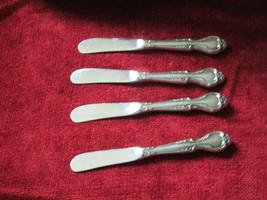 "International lyons Queens Fancy set of 4 butter spreaders 6 1/4"" - $25.69"