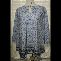 St John's Bay Blue Paisley Pullover Shirt Top Size 1X  - $17.81