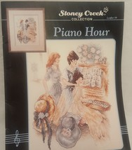 Piano Hour Cross Stitch Leaflet 59 Stoney Creek 1992 Victorian Music Pat... - $9.99