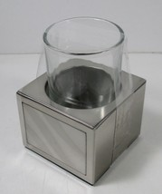 Moire Stainless Steel Tumbler Holder with Glass (3.5 x 3 x 4.4)  CHF New - $9.49