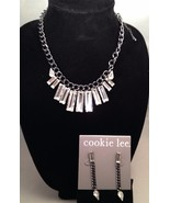 New Cookie Lee Genuine Crystal Necklace and Matching Earrings - $19.55
