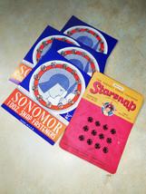 5 Vintage Snap Fastener on card Somomor & Starsnap sewing notions supplies - $16.00