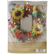 "Bucilla Felt Wreath Applique Kit 15"" Round-Harvest Time - $83.68"