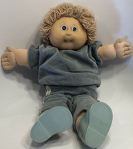 1985 Cabbage Patch Kid 1985 Boy Blond Hair, Blue Eyes, One Tooth Track Suit - $29.39