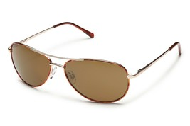 Suncloud Optics Men's Patrol Polarized Aviator Sunglasses Tortoise, Brown - $59.95