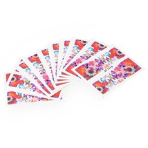 10pcs Flower Nail Decals Art Water Transfer Stickers(#16) - $7.25