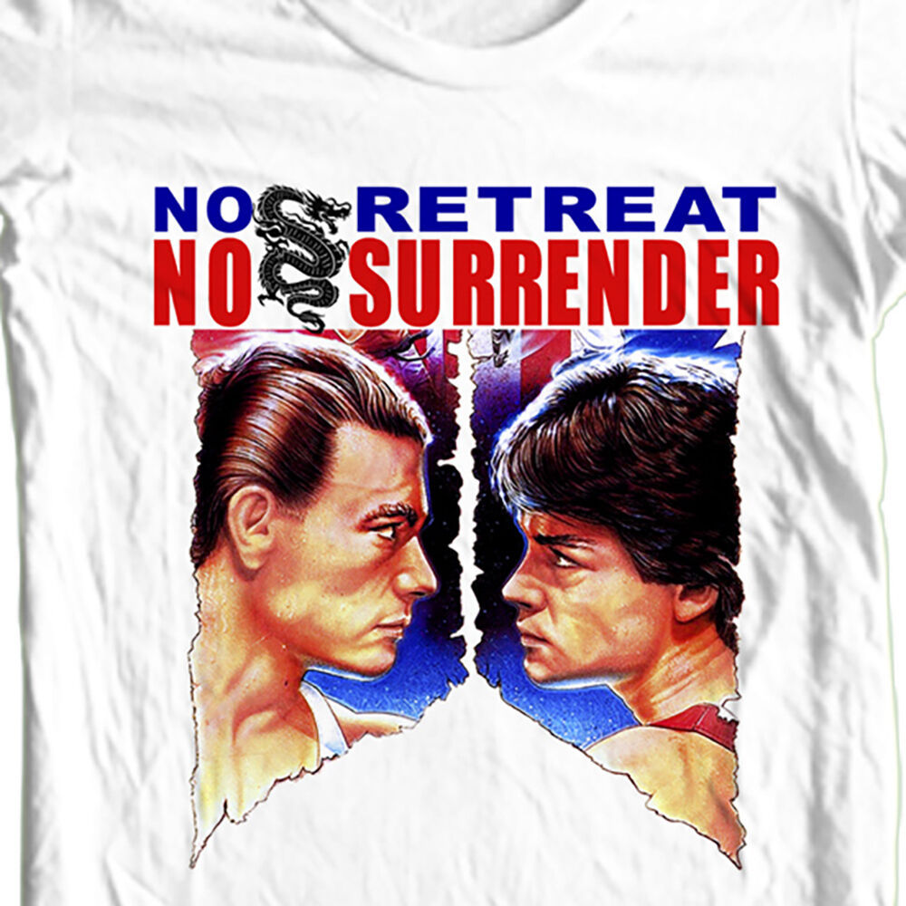 No Retreat No Surrender T-shirt retro karate movie old style film free shipping