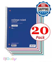 Spiral Notebook 1 Subject 70 Sheets College Ruled LOT OF 20 Spiral Noteb... - $24.74