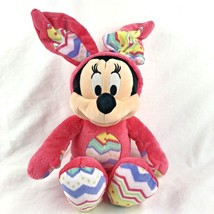 Disney Store Authentic Minnie Mouse Easter Bunny Plush Stuffed Animal Pi... - $17.81