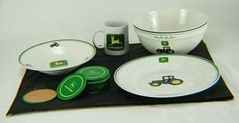 John Deere Tractor Dish Set with Coffee Cup & Coasters - $48.50